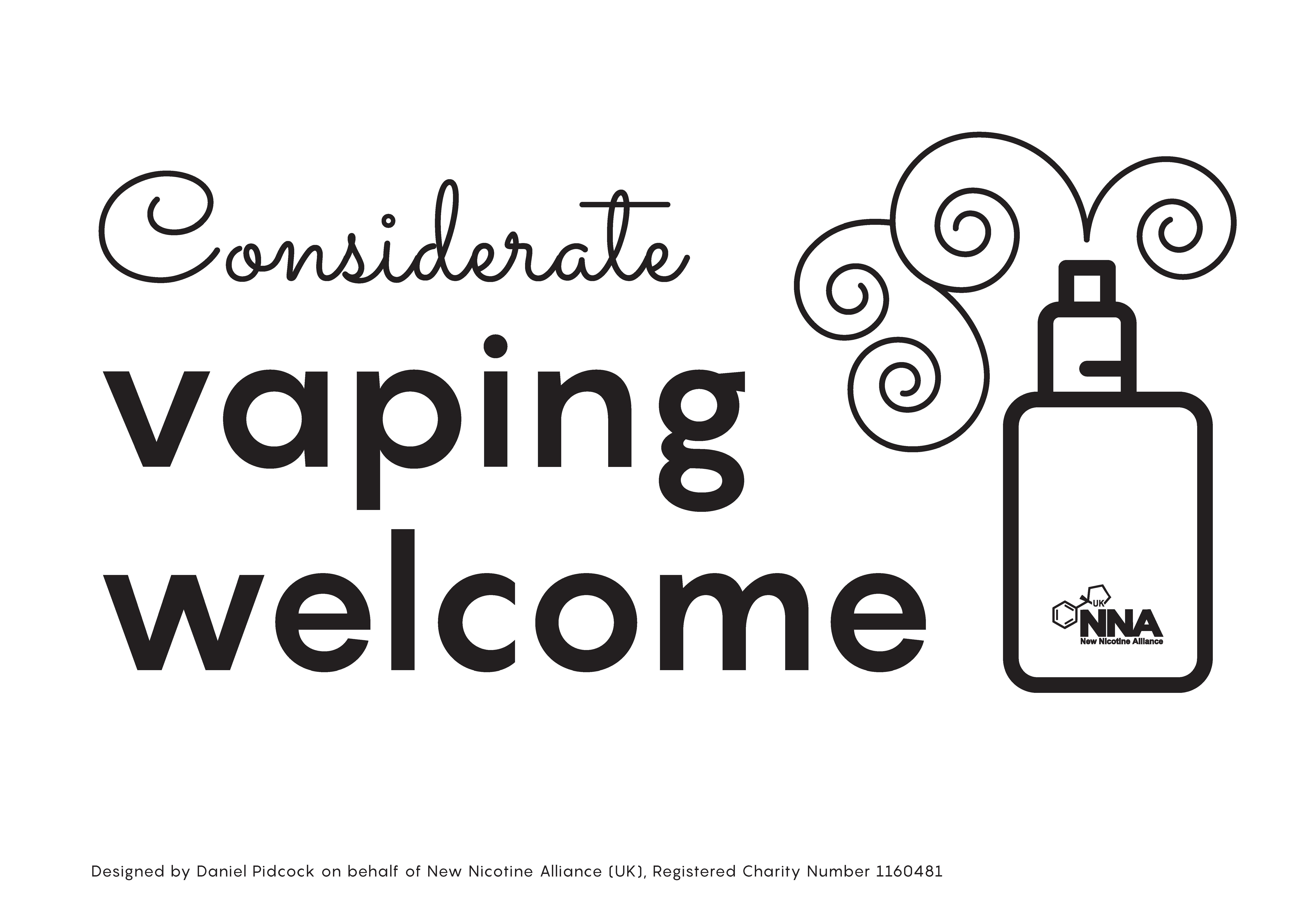 vaping welcome sign