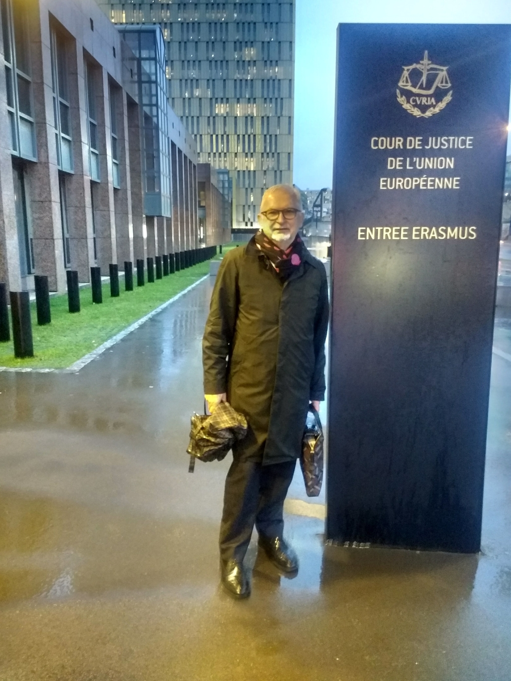 Gerry Stimson outside the ECJ