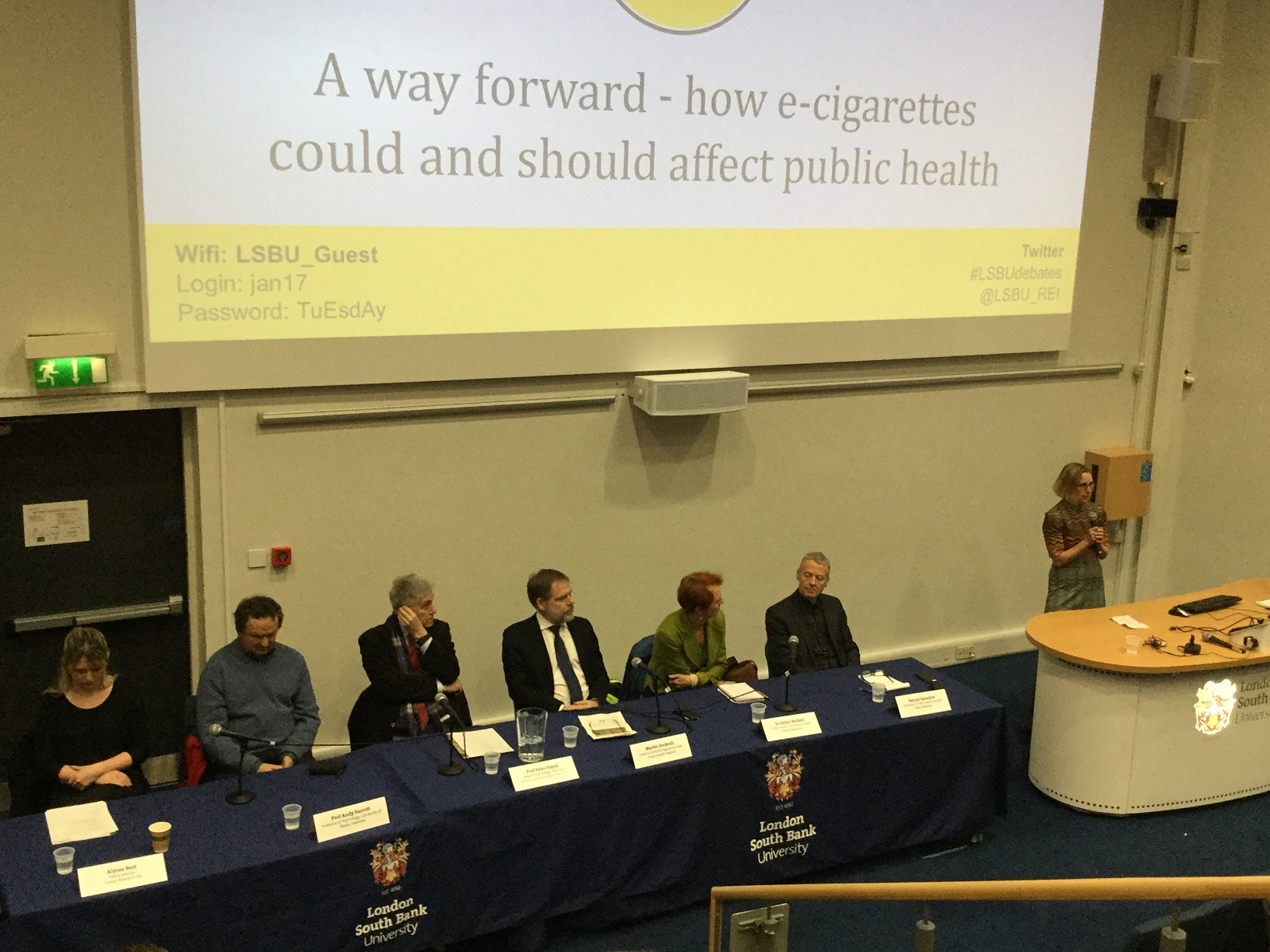 A photo from the LSBU debate.