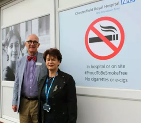 Chesterfield Royal Hospital unveiled a vaping ban in 2017 which has since been rescinded